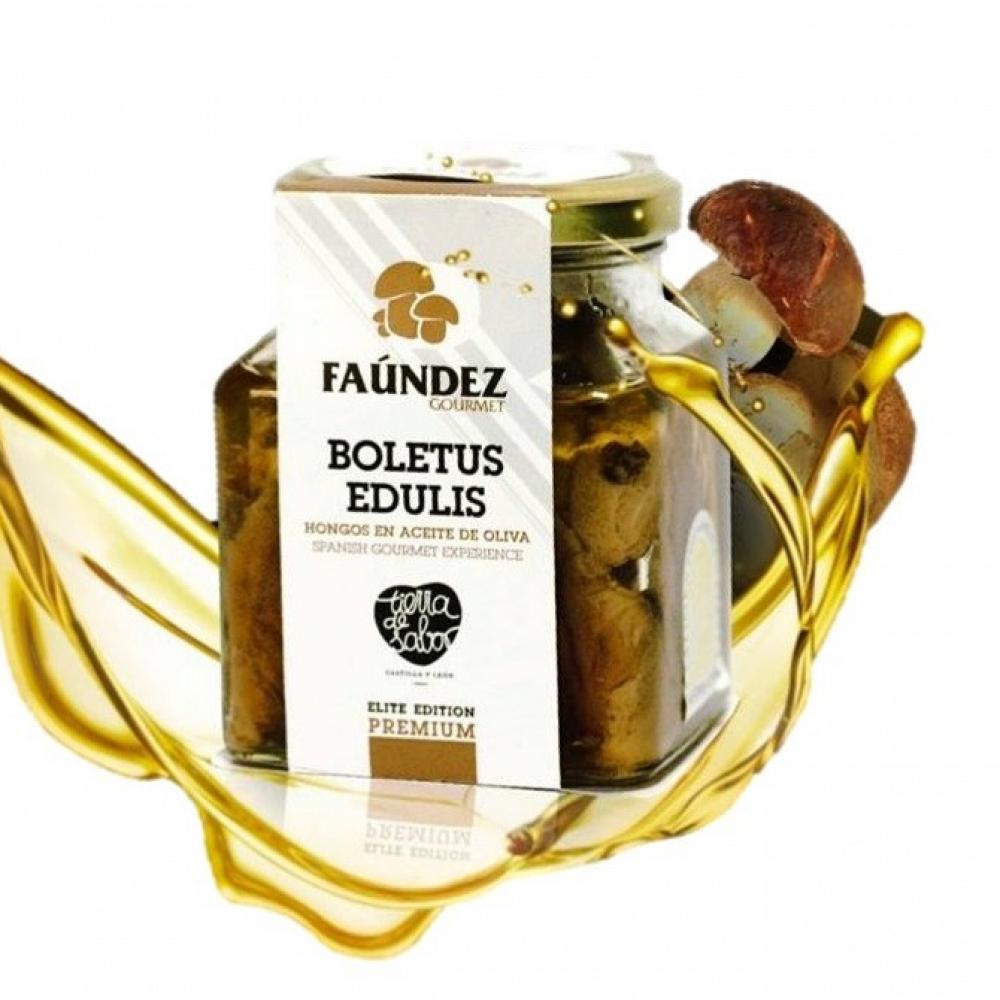 Boletus Edulis En Aceite de Oliva Premium 250g (Hongos Troceados)