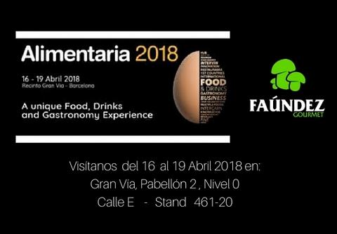 Visítanos en Alimentaria 2018