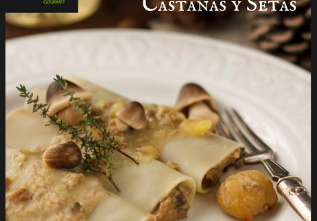 Chestnuts and ceps caneloni
