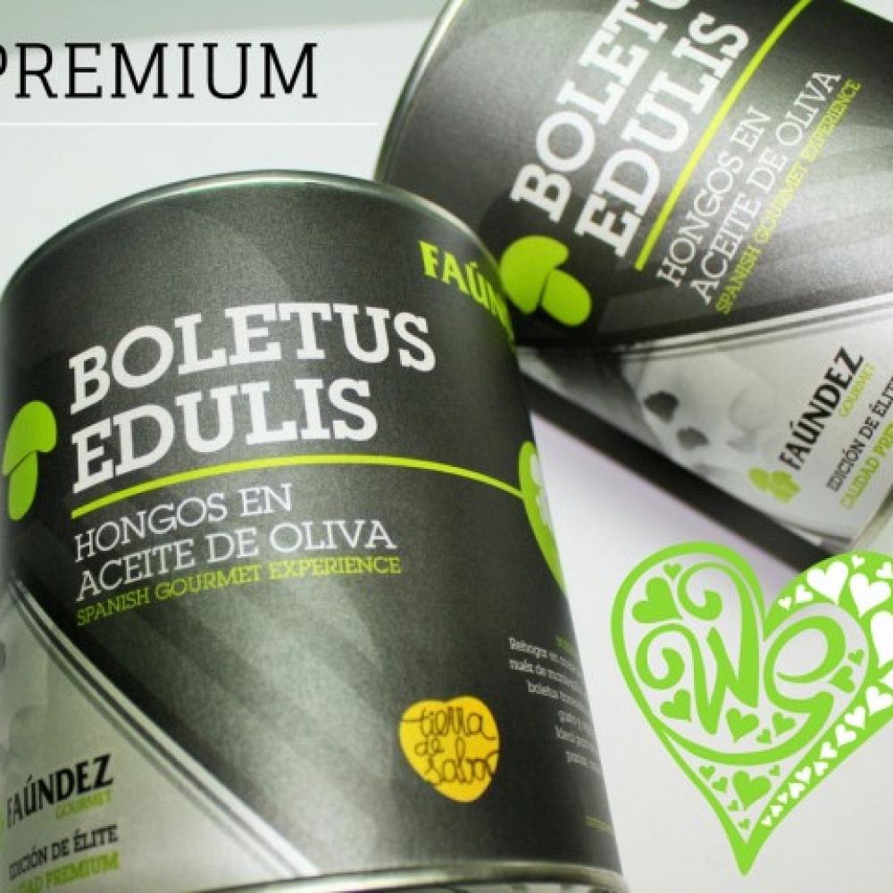 Boletus Edulis en Aceite de Oliva Premium Lata